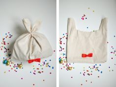 so cute: (candy filled) bag as a bunny!...
