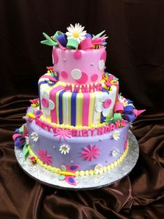 Cute bday cake  Sugar Hills Bakery