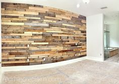 Pre Fab Wood Wall Panels Do It Yourself Pallet Accent