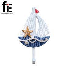 New Wall Hooks stredomorskom štýle Kotvy Fish Slipper lodi v tvare Obývačka závesná dekorácie Námorná Decor (Čína (pevninská časť))