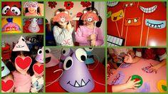 Προσχολική Παρεούλα : Αστεία τερατάκια φέρνουν γέλιο στα παιδιά .. (μάσκες- καπέλα )