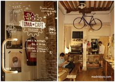 Toma Café está en la calle de la Palma 49, Madrid. Metro: Noviciado (L2) o Tribunal (L1 y L10). Horario: de lunes a viernes, de 8:30h a 20:30h, sábados de 10h a 20:30h y domingos de 10 a 13h y de 15h a 20:30h.