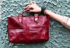 Handmade handbag briefcase purse leather crossbody bag purse shoulder bag for women