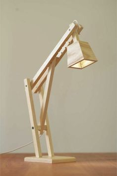 the catapult modern wood arm lamp in walnut contemporary light wood veneer light fixtures wood light fixtures bathroom Woodworking Plans, Woodworking Projects, Wooden Desk Lamp, Homemade Tables, Homemade Lamps, Diy Holz, Wood Projects, Light Fixtures, Wood Furniture