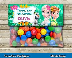 Frozen Fever Favor Bag Toppers Personalized BIRTHDAY party Printable - Digital File