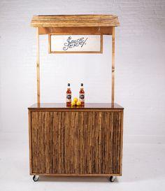 Mini Stand, Outdoor Tiki Bar, Food Cart Design, Food Kiosk, Tiki Bar Decor, Bamboo Bar, Pop Up Bar, Home Themes, Kiosk Design