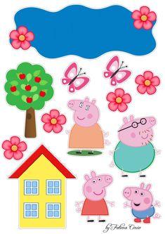 Baby Birthday Cakes, Happy Birthday Cake Topper, Pippa Pig, Peppa Pig Images, Aniversario Peppa Pig, Crochet Pig, George Pig, Pig Party, Leh