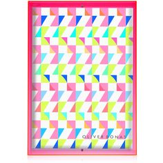 Add a pop of neon to your home styling with this pink A3 neon block wall frame