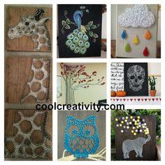 30 + Creative DIY String Art Project Ideas