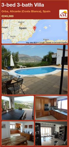 3-bed 3-bath Villa in Orba, Alicante (Costa Blanca), Spain ►€245,000 #PropertyForSaleInSpain