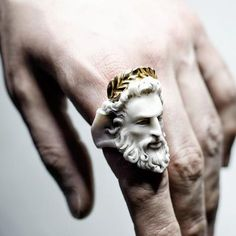 Zeus ring by Macabre Gadgets - jewelry appraisal, discount jewelry, costume jewe. - Zeus ring by Macabre Gadgets – jewelry appraisal, discount jewelry, costume jewelry rings *sponso - Antique Jewelry, Silver Jewelry, Fine Jewelry, Jewelry Making, Jewelry Box, Jewelry Ideas, Jewelry Displays, Silver Rings, Turquoise Jewelry