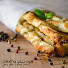 French Toes with Basil and Nuts (Puff Pastry, basil, rosemary, nuts, parmsan)  - pear with apron