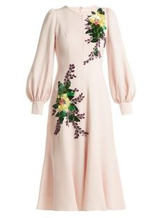 Andrew Gn - Sequin Embellished Crepe Midi Dress - Womens - Pink Multi Source by catfacejess dresses hijab Muslim Fashion, Modest Fashion, Hijab Fashion, Fashion Dresses, Pink Midi Dress, Flare Dress, Dress Skirt, Cap Dress, Pretty Dresses