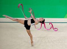 Schritt nach vorn: Bevor die Wettkämpfe in Rhythmischer Sportgymnastik...