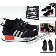 competitive price 49908 7c6a4 Adidas NMD R1 Primeknit Classique Chaussure Enfant Noir Blanche  aditrace