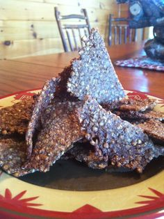 Garlicky Buckwheat Chips! Gluten Free, Vegan, Body Ecology Diet friendly!  glutenfreehappytummy