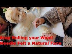 Waldorf doll face felting part 1 - YouTube