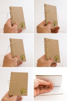 Learn to bind a beautiful handmade book with this Hemp Stitch Japanese Book Binding Tutorial. Hand embroider the book cover with a special motif. Gratitude Book, Diy Old Books, Homemade Books, Handmade Notebook, Knitting Blogs, Paper Embroidery, Japanese Books, Leather Books, How To Make Notes