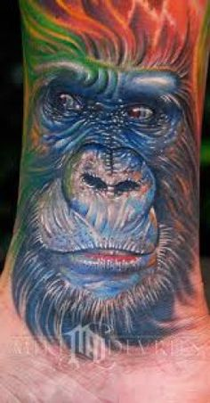 GORILLA TATTOOS AND DESIGNS-GORILLA TATTOO MEANINGS AND IDEAS-GORILLA TATTOO PICTURES