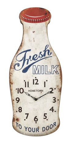Farmhouse Milk Bottle Clock