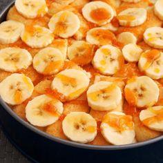 Receita de Torta de Banana Super Simples - 8 unidades de banana, 3 colheres (sopa) de manteiga, 1 colher (sopa) de fermento químico em pó, 12 colheres (sopa...