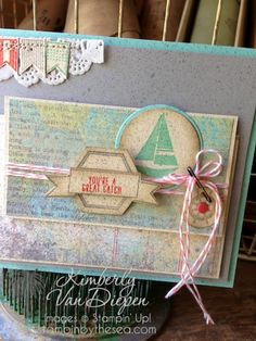 Use Open Sea stamp set - here it is Settin' Sail, Stampin'  Up!