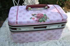 """I had such a great Christmas. What a whirlwind of fun! My last project before Christmas was to transform this train case screaming """"Make me ..."""