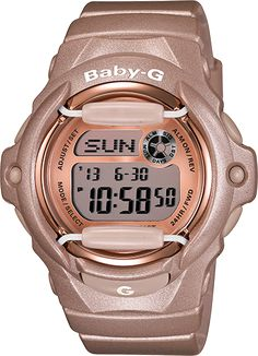 Baby G shock watch for nursing!  digital and water resistant. Either in light pink, pink, or white. although this color is cute