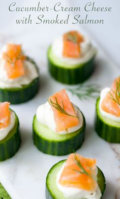 cucumber & smoked salmon hor d'oeuvres More