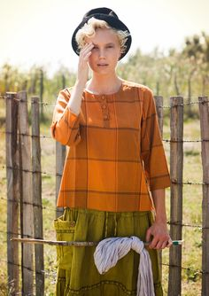 Cotton blouse – Blouses & waistcoats – GUDRUN SJÖDÉN – Webshop, mail order and boutiques | Colourful clothes and home textiles in natural materials.