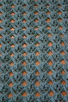 diamond lace crochet stitch