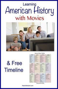 Learn American History with Movies! Chronological Movie list and Free printable . - Learn American History with Movies! Chronological Movie list and Free printable timeline - Teaching Us History, History Activities, History Education, Teaching Social Studies, History Teachers, High School History, History For Kids, Study History, Nasa History