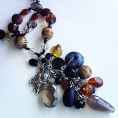 SALT #jewelry #closeup $136 message to buy. #oneofakind #santacruz #womenswear #longnecklace #beads #earthy #elegant #tgif