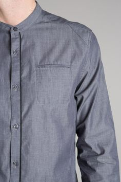 Chemise homme col mao authentique - Achat vente Chemise homme col mao authentique - Bonobo