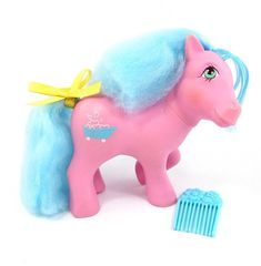 Vintage G1 Perfume Puff My Little Pony ~✦ Sweet Suds ✦~ w/Org Comb & Scent!