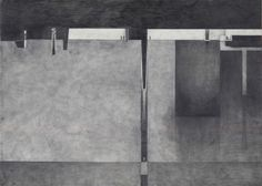 """A conversation with Middle Head. Sydney Australia.""  Vesna Trobec.  2011.Graphite on paper."
