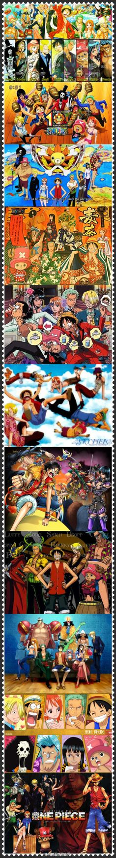 One piece - throughout the years