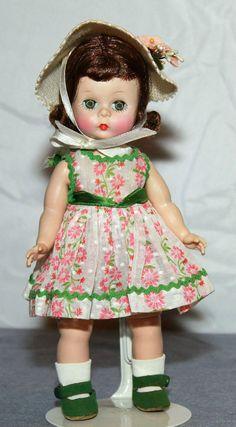 """BKW 8"""" Vintage Madame Alexander DOLL - RARE FUZZY BOTTOM SHOES - RARE DRESS picclick.com"""