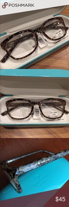 Kate Spade Tabby Readers - +2.00 BRAND NEW Kate Spade Tabby Readers in +2.00. Gorgeous tortoise shell frames in black and brown. kate spade Accessories Glasses
