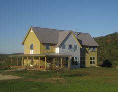 Net Zero Energy Home: Charlotte VT - Pill-Maharam Architects - Winner of 2009 NESEA Zero Net Energy Building Award