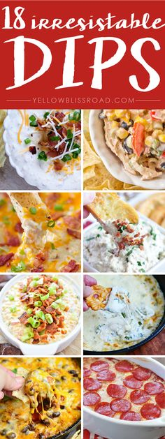 18 Unique and Irresistable Dips