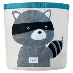 Not sure which I like better... raccoon or fox!!  Super cute!  3 Sprouts Storage Bin Raccoon