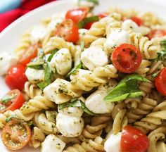 Caprese Pasta Salad - - We compiled a list of 67 of the best pasta salad recipes around the web.   Savorystyle.com