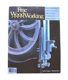 1987 Fine Woodworking Magazine #63 Bandsaw Spindle Turning Music Stand