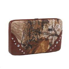 Emperia Women s Wallet Clutch with Push Button Closure and Rhinestone  Embellishments f5b5eb8133