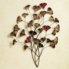 Ginkgo Whispers Metal Wall Art