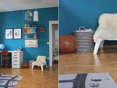 Zeit PETROL zu streichen! Schau mal rein in das Kinderzimmer von Nina! #KOLORAT…