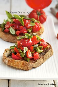 Apron and Sneakers - Cooking & Traveling in Italy and Beyond: Bruschetta al Pomodoro & Asparagi (Tomatoes & Asparagus)