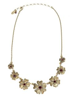 Camellia Ruby Necklace by Pilgrim available at Chic Peek