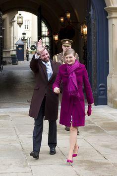 Le Prince Guillaume de Luxembourg et son épouse La Princesse Stéphanie.